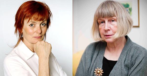 Journalisten Gunilla Kindstrand och kulturproducenten Ingrid Rasch.