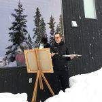 Anders Sköld konstnär målar